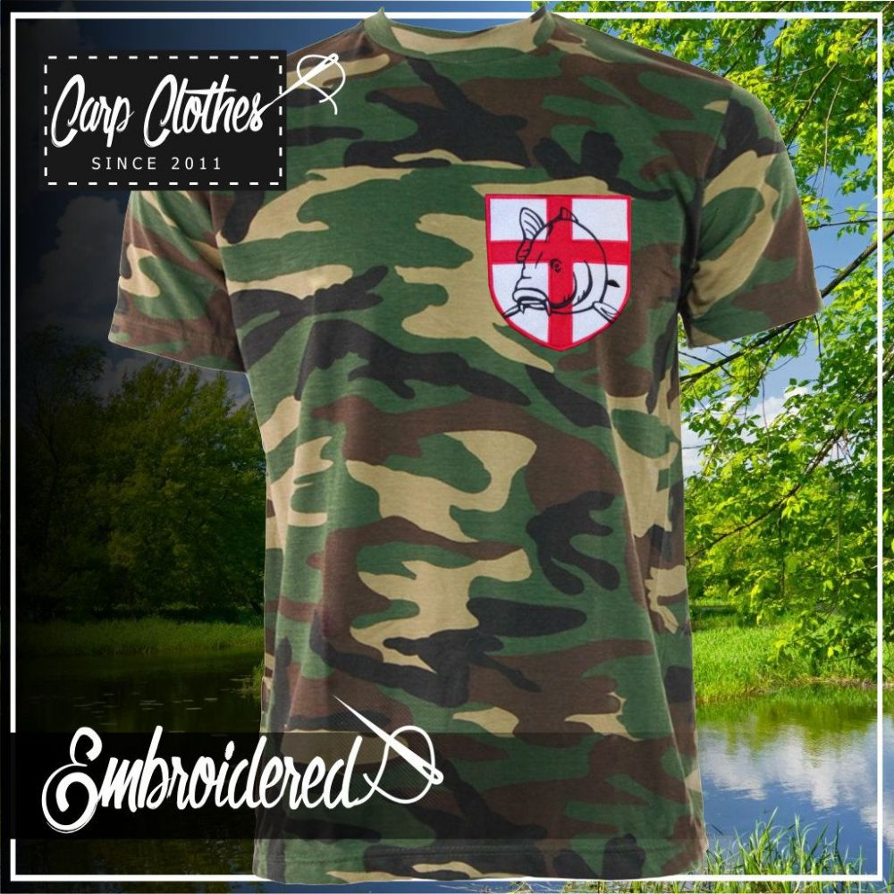 021 EMBROIDERED CAMO T SHIRT